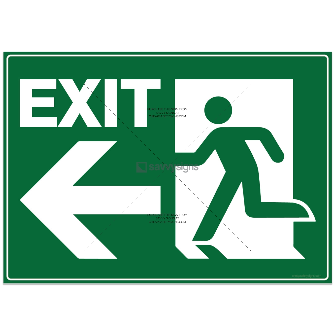SSEME3034-EMERGENCY-Exit-Left-with-Pictogram