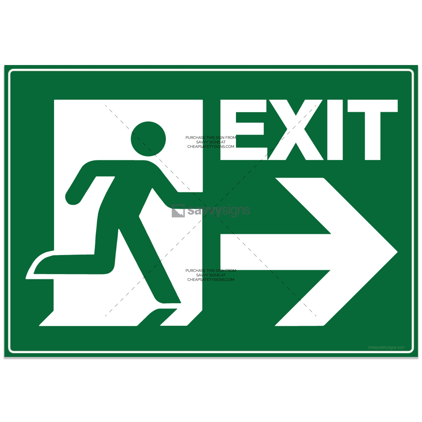 SSEME3035-EMERGENCY-Exit-Right-Pictogram