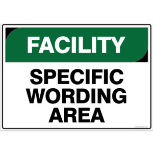 Facility Signs