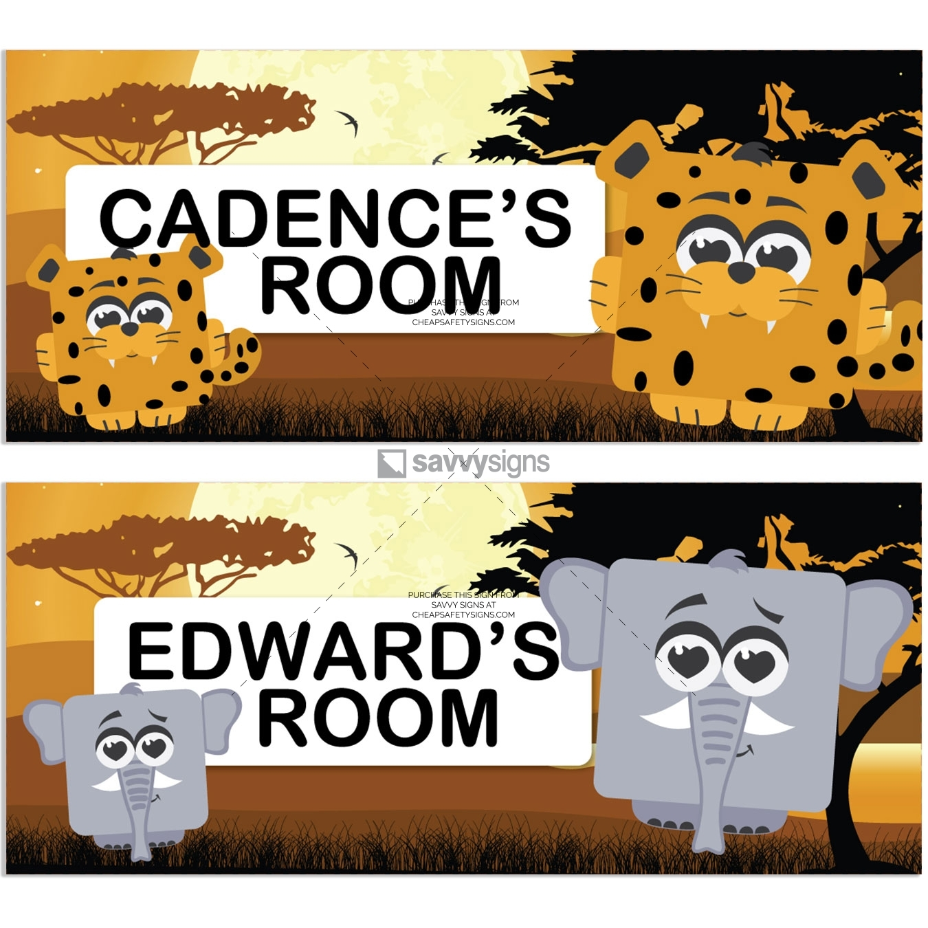 SSFUN3-African-Savannah-A-Kids-Bedroom-Door-Sign_Savvy-Signs_v1