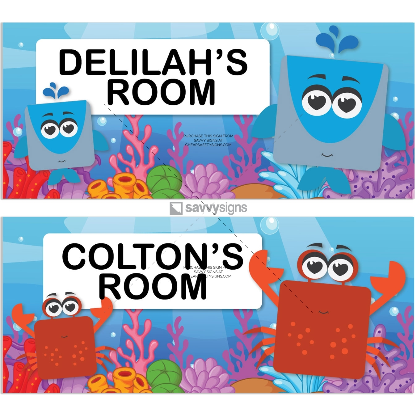 SSFUN3035-Under-the-Sea-B-Kids-Bedroom-Door-Sign_Savvy-Signs_v1