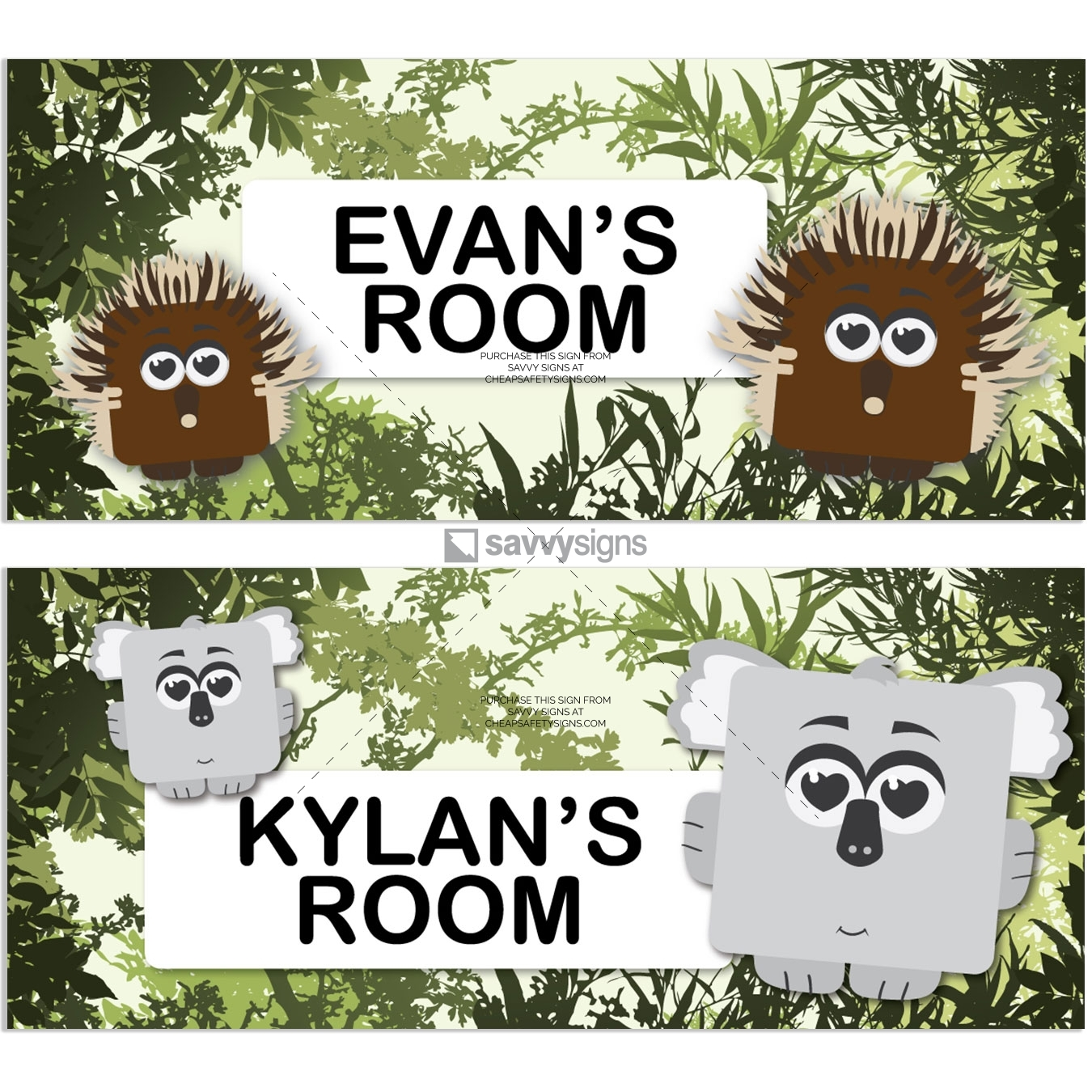 SSFUN3036-Aussie-Bush-A-Kids-Bedroom-Door-Sign_Savvy-Signs_v1