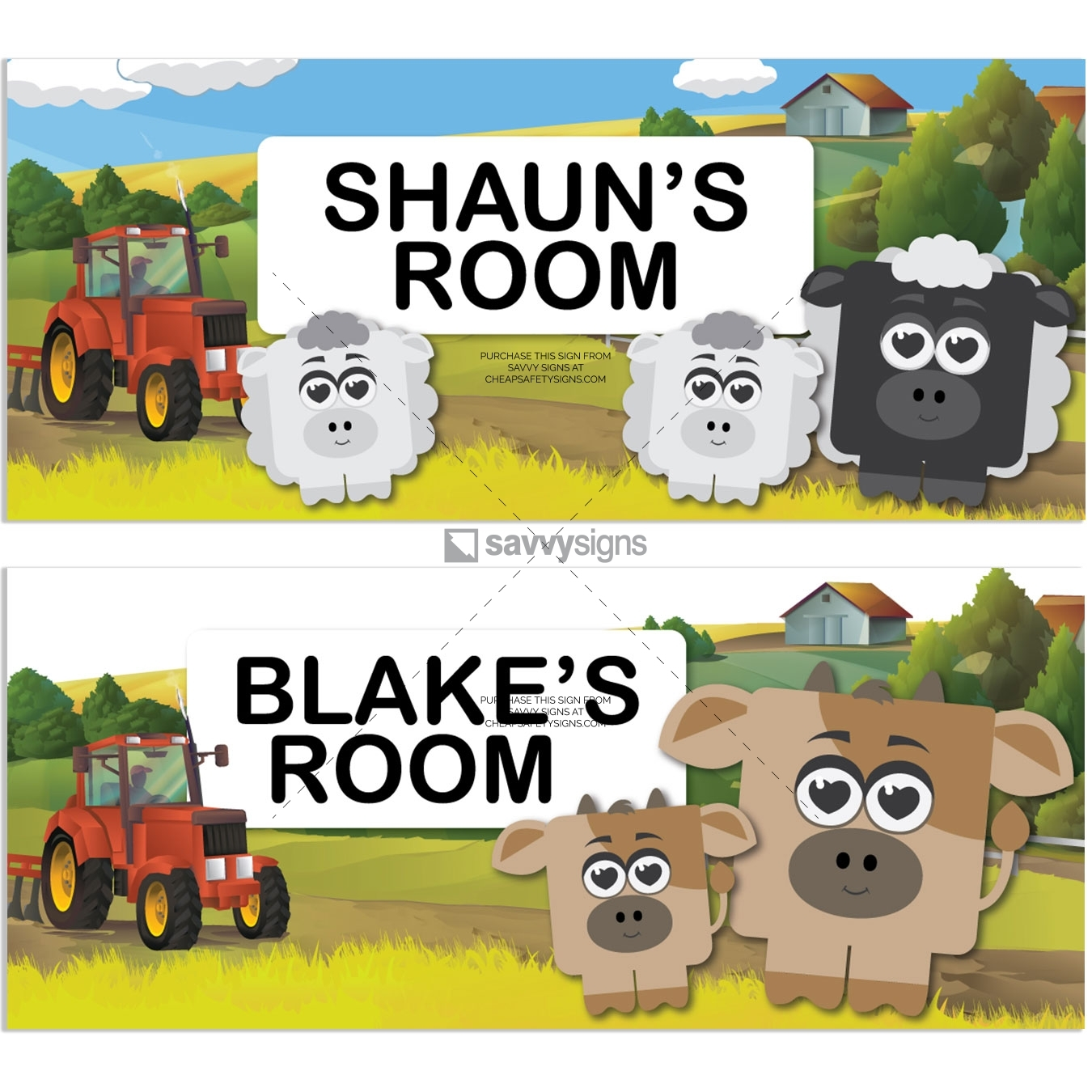 SSFUN3039A-Farm-Kids-Bedroom-Door-Sign_Savvy-Signs_v1