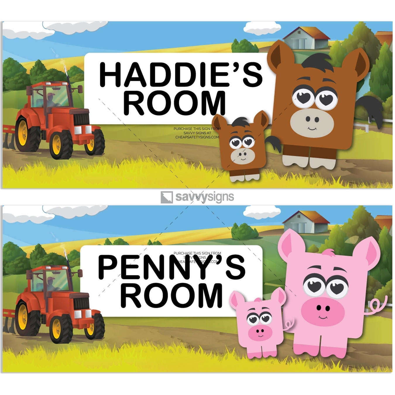 SSFUN3039C-Farm-Kids-Bedroom-Door-Sign_Savvy-Signs_v1