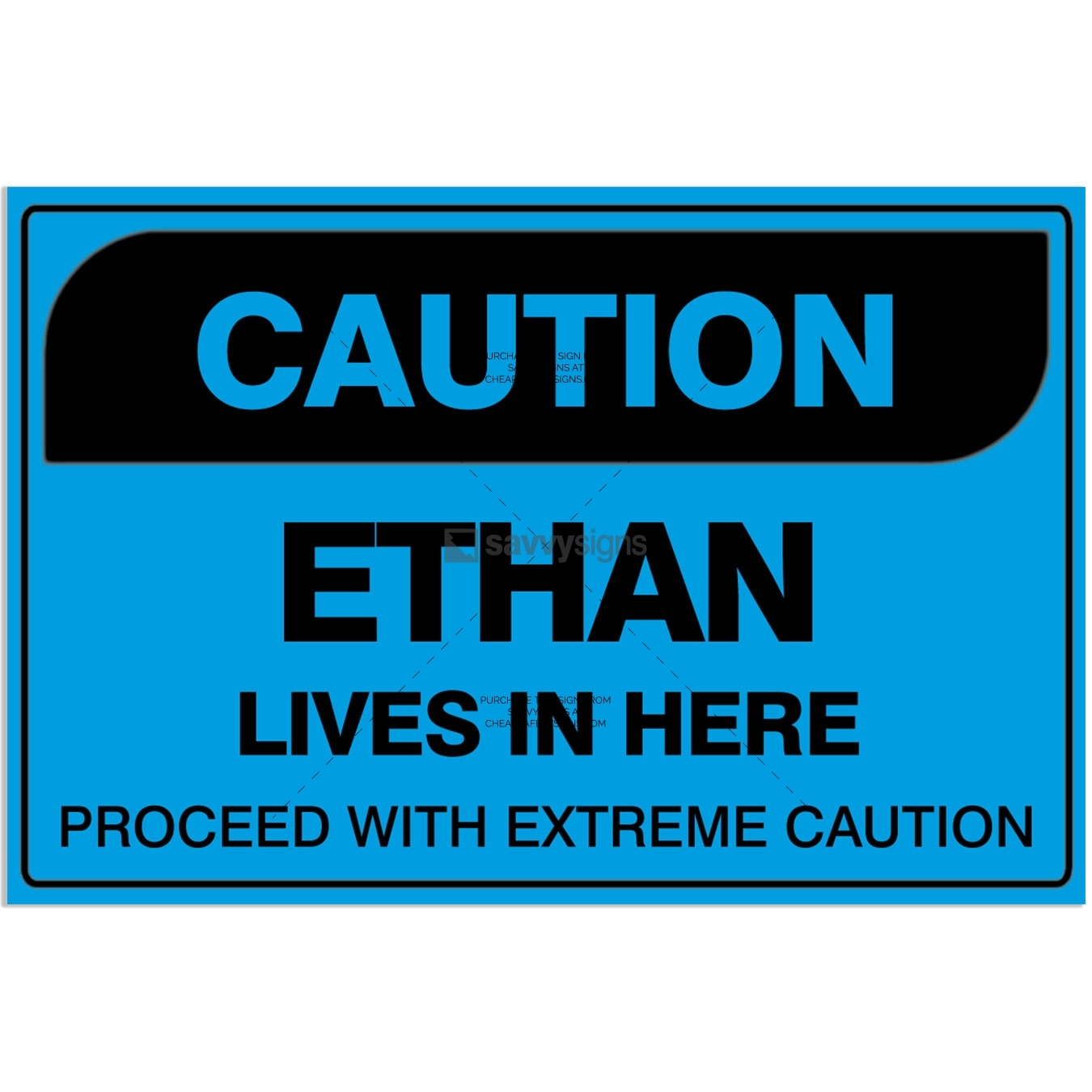 SSFUN3042-Caution-Ethan-Kids-Bedroom-Door-Sign_Savvy-Signs_v1