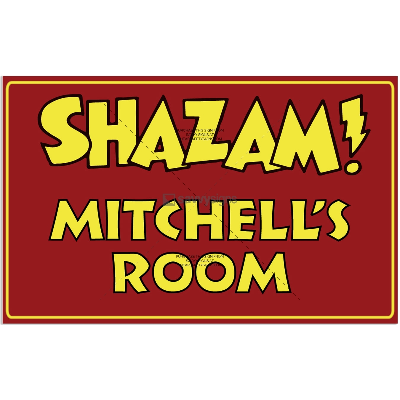 SSFUN3046-Shazam-Mitchell-Kids-Bedroom-Door-Sign_Savvy-Signs_v1