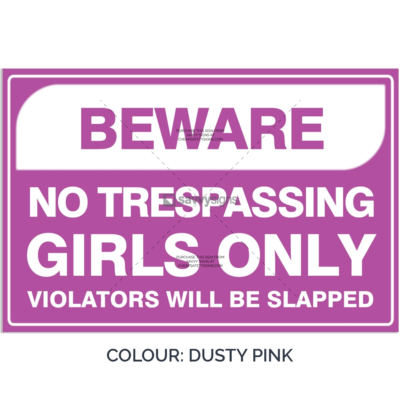SSFUN3050-Girls-Only-11-Dusty-Pink-Bedroom-Door-Sign_Savvy-Signs_v1