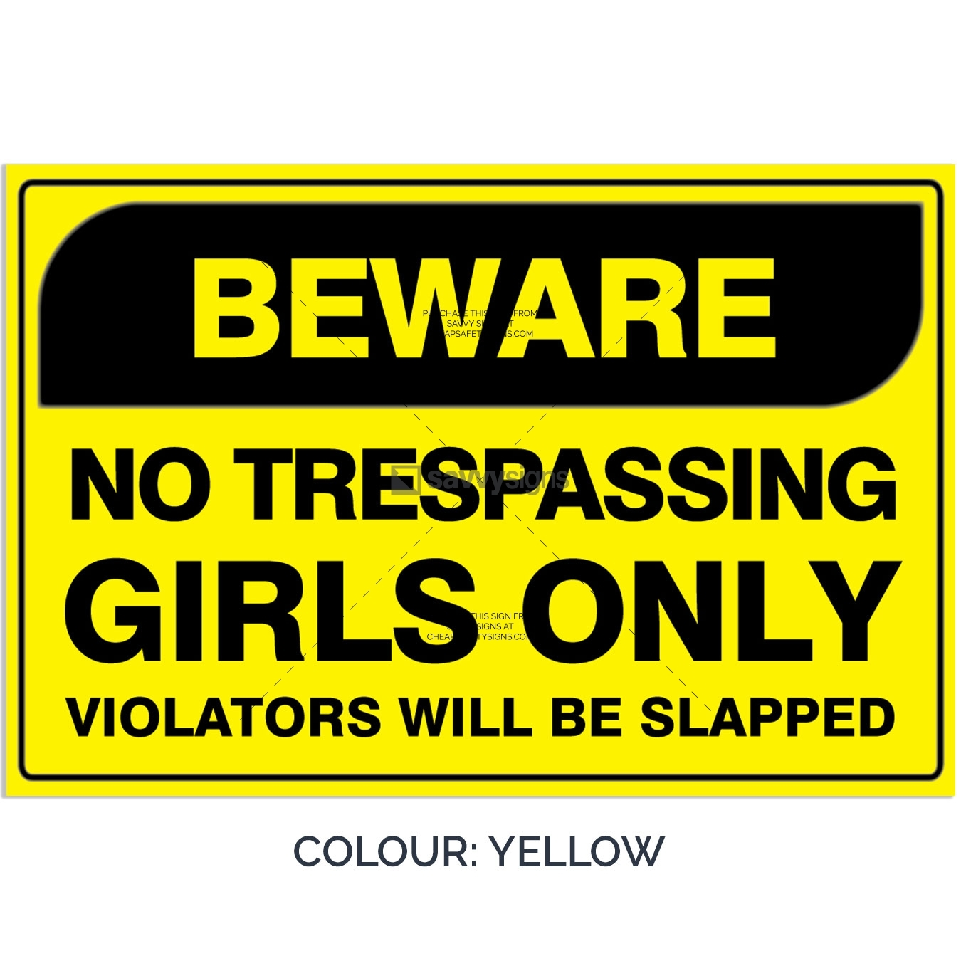 SSFUN3050-Girls-Only-16-Yellow-Bedroom-Door-Sign_Savvy-Signs_v1