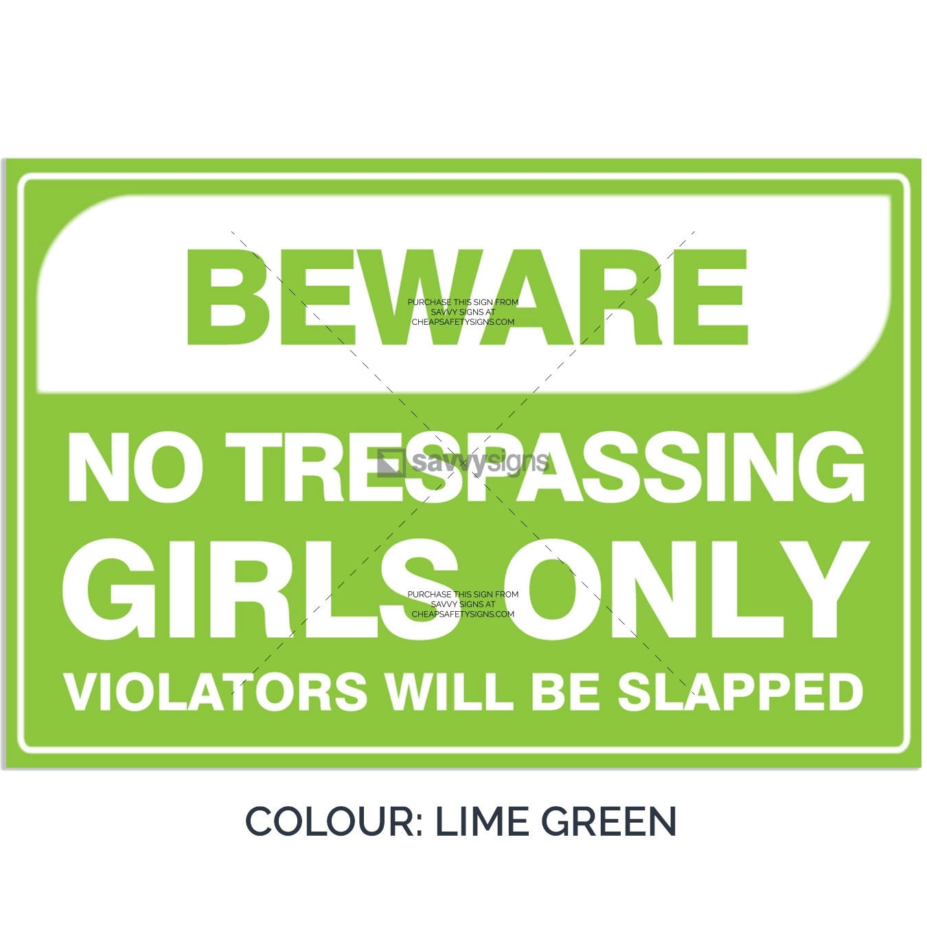 SSFUN3050-Girls-Only-17-Lime-Green-Bedroom-Door-Sign_Savvy-Signs_v1