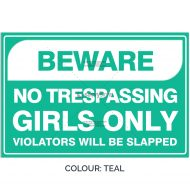 SSFUN3050-Girls-Only-18-Teal-Bedroom-Door-Sign_Savvy-Signs_v1
