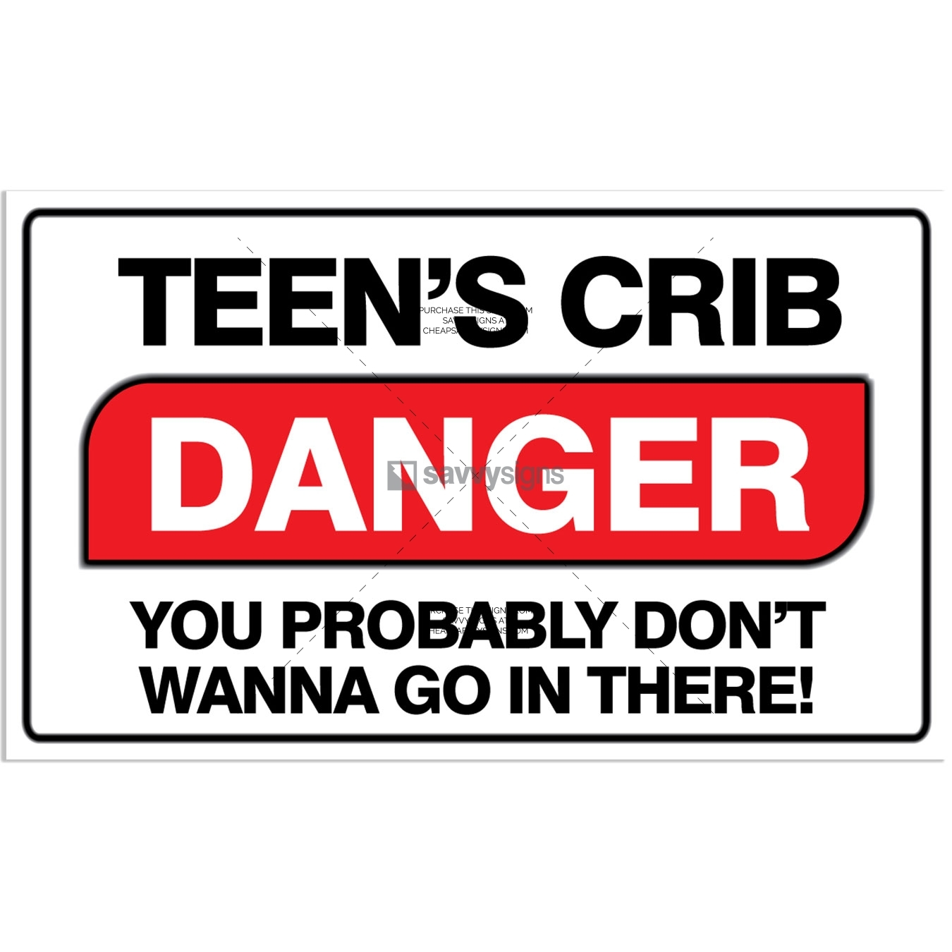 SSFUN3052-Beware-Teenager-Inside-Bedroom-Door-Sign_Savvy-Signs_v1.01